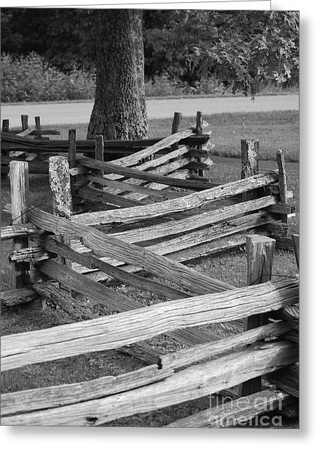 Split Rail Fence Greeting Card by Eric Liller