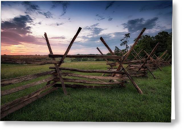 Greeting Card featuring the photograph Split Rail Fence by Ryan Wyckoff