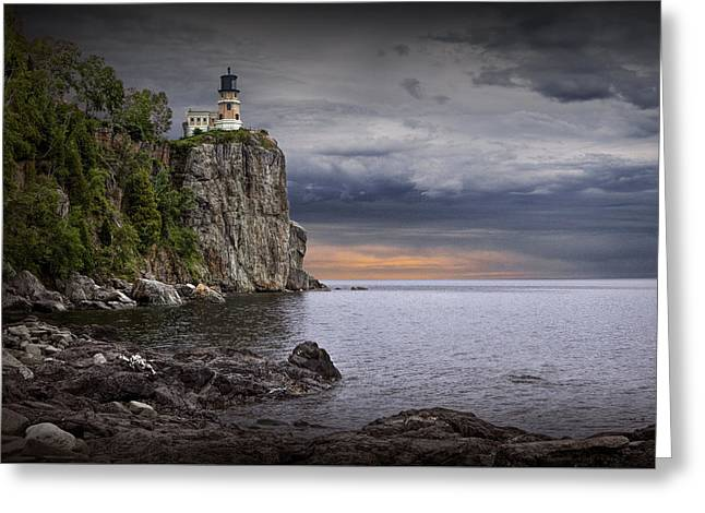 Split Rock Lighthouse At Sunrise Greeting Card by Randall Nyhof