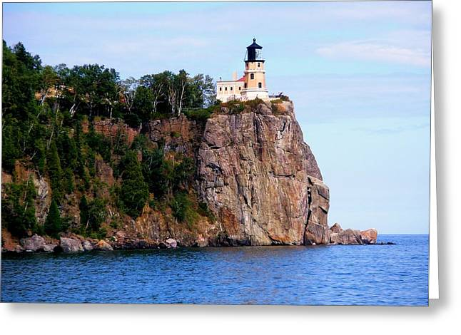Split Rock Lighthouse Greeting Card by Bridget Johnson