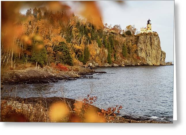 Greeting Card featuring the photograph Split Rock Lighthouse by Whitney Leigh Carlson