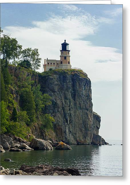 Split Rock Lightouse Greeting Card by Penny Meyers