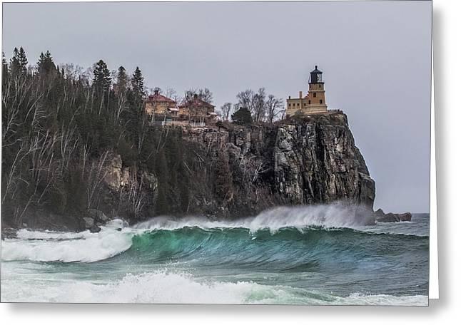 Split Rock Surf Greeting Card