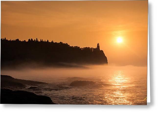 Split Rock's Morning Glow Greeting Card