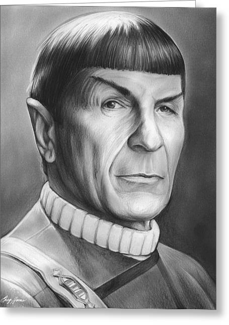 Spock Greeting Card by Greg Joens
