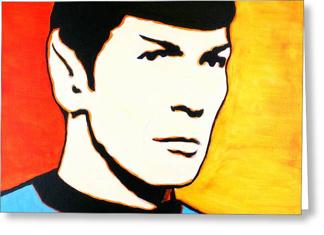 Spock Vulcan Star Trek Pop Art Greeting Card