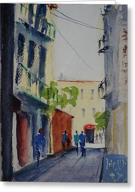Spofford Street3 Greeting Card by Tom Simmons