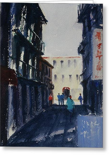 Spofford Street4 Greeting Card by Tom Simmons