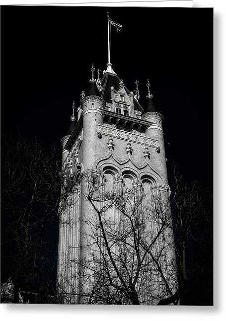 Spokane Courthouse Tower Greeting Card by Daniel Hagerman