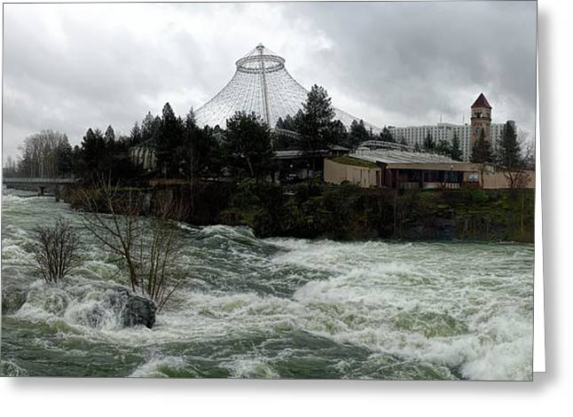 Spokane River Peak Flood Stage - Spring 2017 Greeting Card by Daniel Hagerman