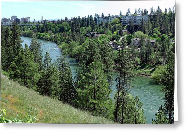 Spokane Skyline And River Gorge Greeting Card