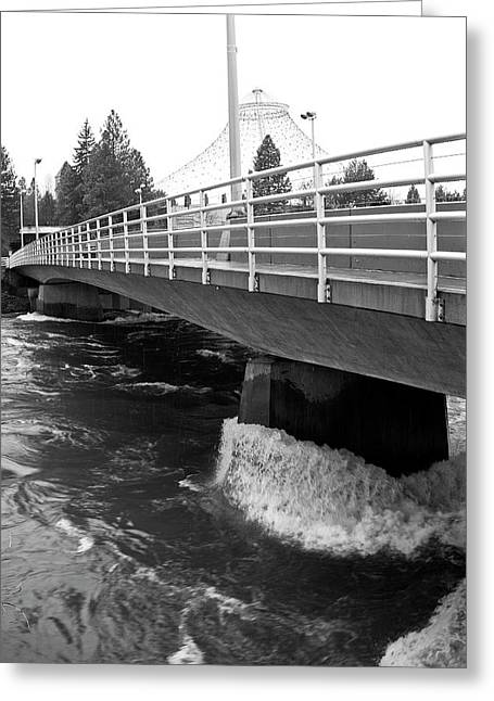 Spokane Washington Street Bridge Greeting Card by Daniel Hagerman