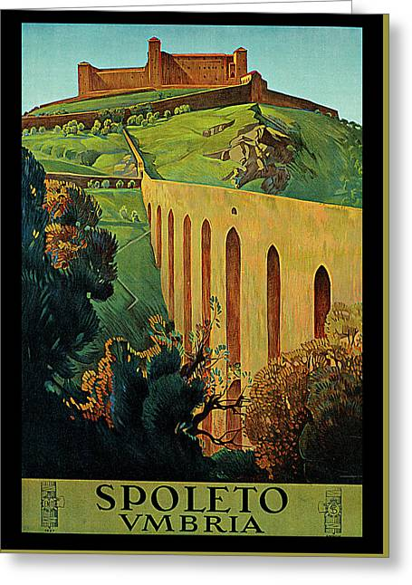Spoleto Greeting Card by Simonetti