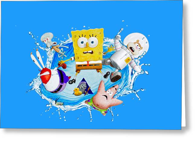 Sponge Out Of Water Drawing Greeting Card
