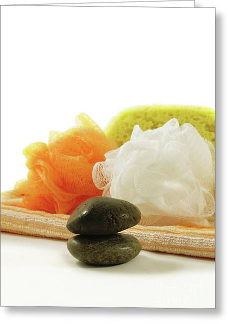 Sponges And Towels - Spa Concept Greeting Card