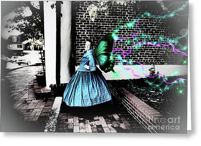 Spooky Historic Butterfly Dahlonega  Greeting Card