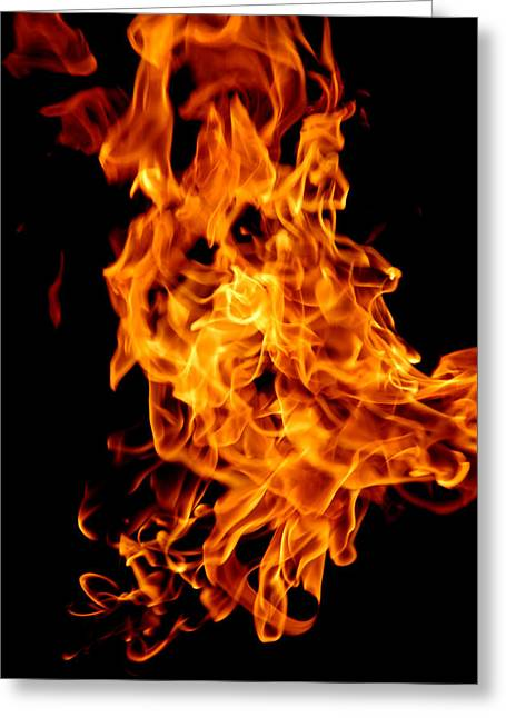 Spooky Hot Spirit Fire Michigan Greeting Card by LeeAnn McLaneGoetz McLaneGoetzStudioLLCcom