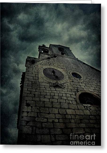 Spooky Medieval Church Greeting Card