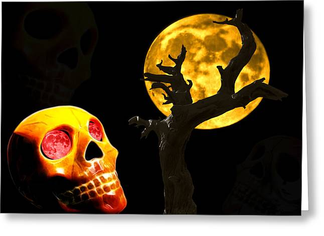 Greeting Card featuring the photograph Spooky Night by Shane Bechler