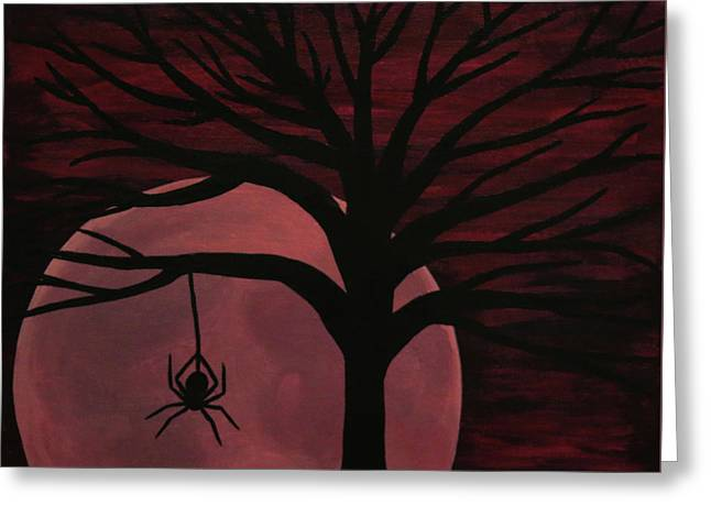 Spooky Spider Tree Greeting Card