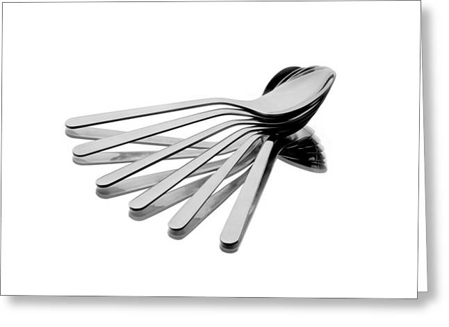 Mirror Reflection Greeting Cards - Spoon Fan Greeting Card by Gert Lavsen