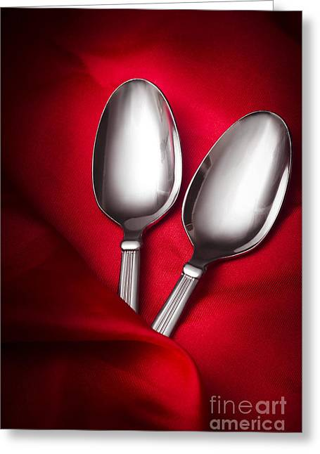 Spooning In Two Course Greeting Card