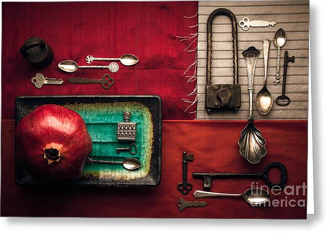 Spoons, Locks And Keys Greeting Card