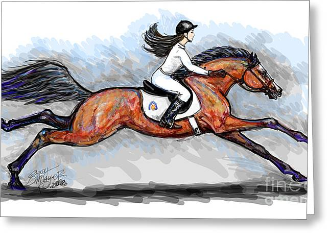 Sport Horse Rider Greeting Card