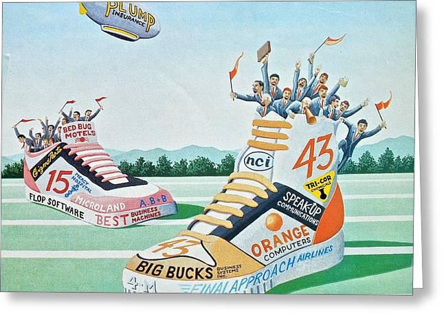 Sport Shoe Illustration Greeting Card