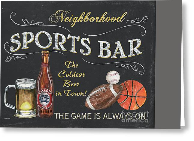 Pitchers Greeting Cards - Sports Bar Greeting Card by Debbie DeWitt