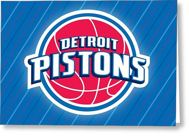 Sports Detroit Pistons                    Greeting Card
