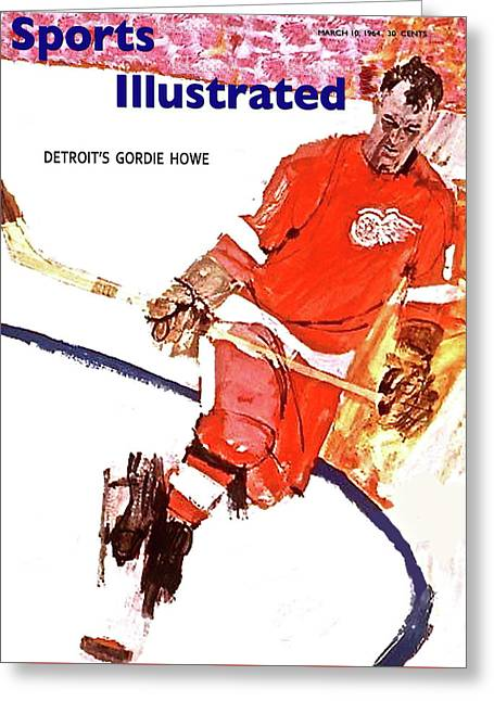 Sports Illustrated Cover, Gordie Howe, March 10, 1964 Greeting Card
