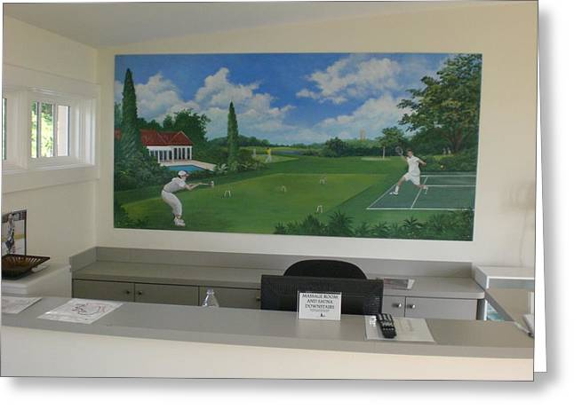 sports images mural-Mountain Lake -Florida Greeting Card by Scott K Wimer