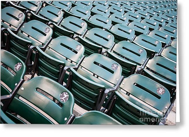 Sports Stadium Seats Photo Greeting Card by Paul Velgos