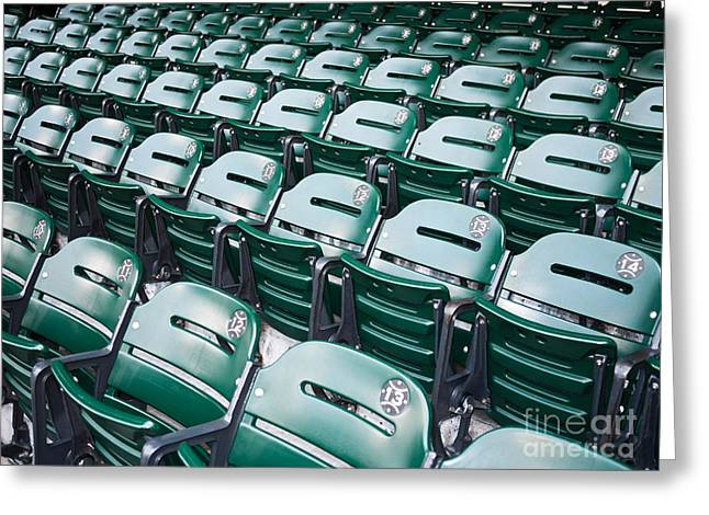 Sports Stadium Seats Picture Greeting Card by Paul Velgos