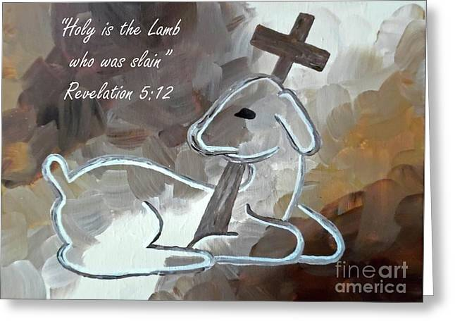 Spotless Lamb With Scripture Greeting Card