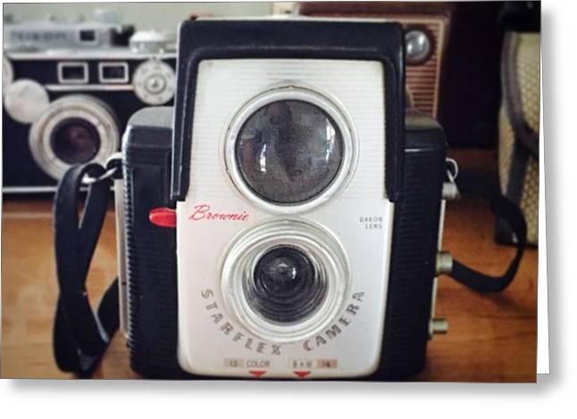 Brownie Starflex Camera Greeting Card