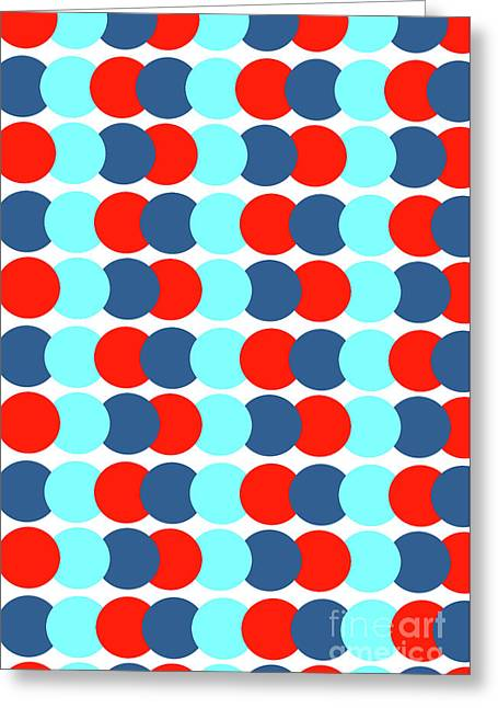 Spots In A Row Greeting Card by Louisa Knight