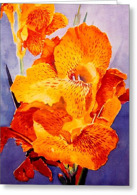 Spotted Canna Greeting Card by M Diane Bonaparte