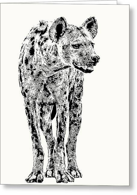 Spotted Hyena Full Figure Greeting Card