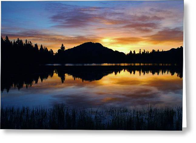 Sprague Greeting Cards - Sprague Lake Sunrise Reflections Greeting Card by Stephen  Vecchiotti