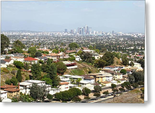 Sprawling Homes To Downtown Los Angeles Greeting Card