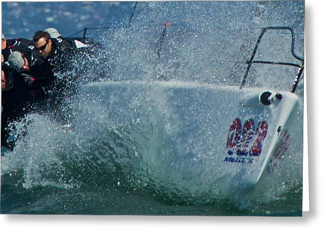 Spray - Melges 32 Greeting Card by Steven Lapkin