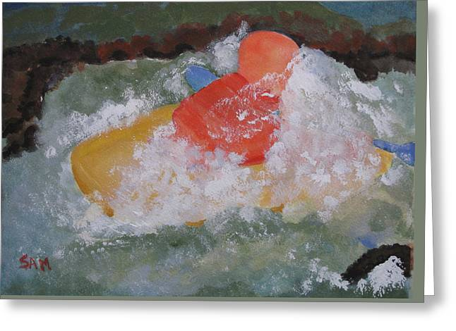 Greeting Card featuring the painting Spray by Sandy McIntire