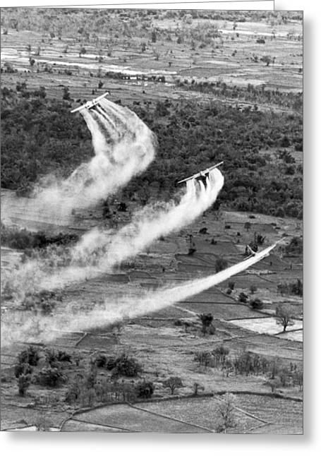 Spraying Agent Orange Greeting Card
