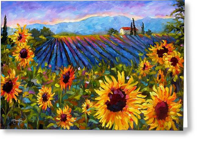 Greeting Card featuring the painting Spread A Little Sunshine by Chris Brandley