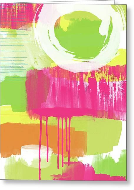 Spring Abstract- Art By Linda Woods Greeting Card by Linda Woods