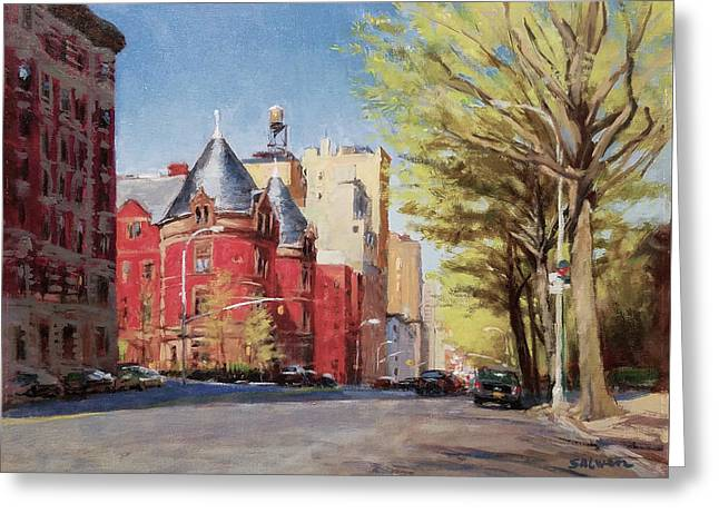 Spring Afternoon, Central Park West Greeting Card