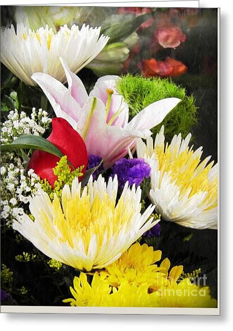 Spring Arrangement Greeting Card