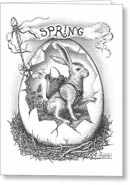 Spring Arrives Greeting Card by Adam Zebediah Joseph
